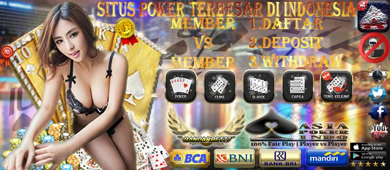 Website Situs Poker Online Asia Uang Asli Terbaru
