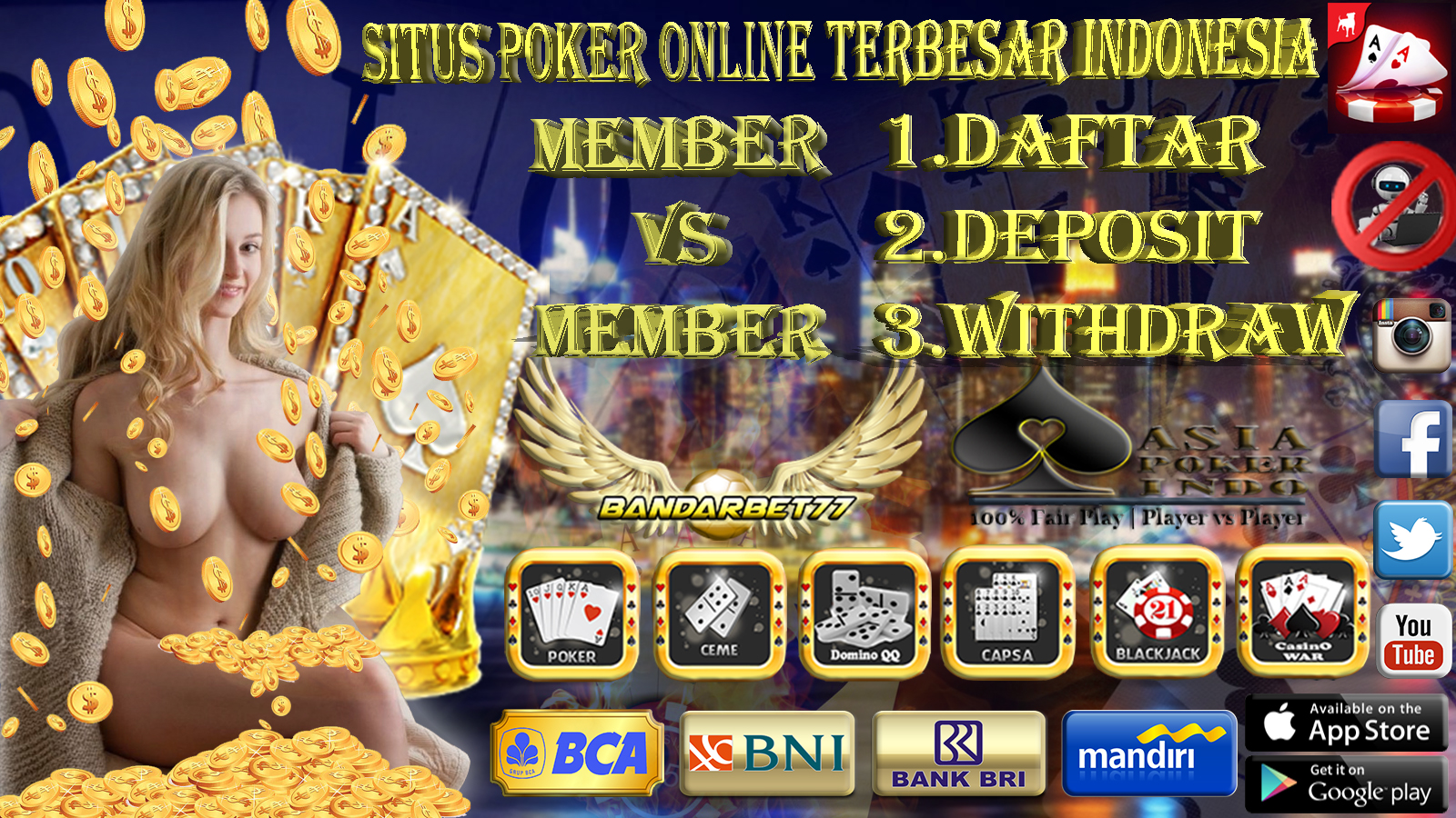Daftar Website Situs Poker Tanpa Bot Online Indonesia